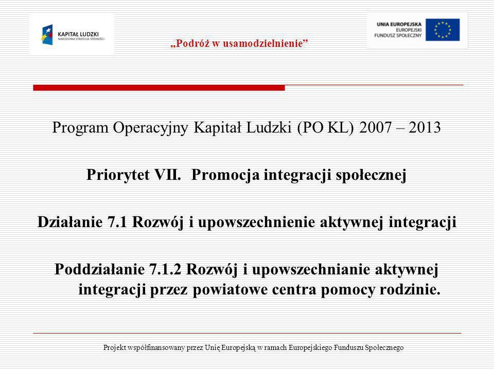 Program Operacyjny Kapitał Ludzki (PO KL) 2007 – 2013