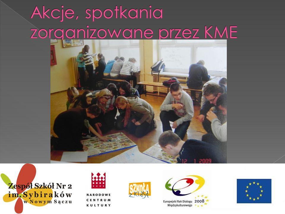 Akcje, spotkania zorganizowane przez KME