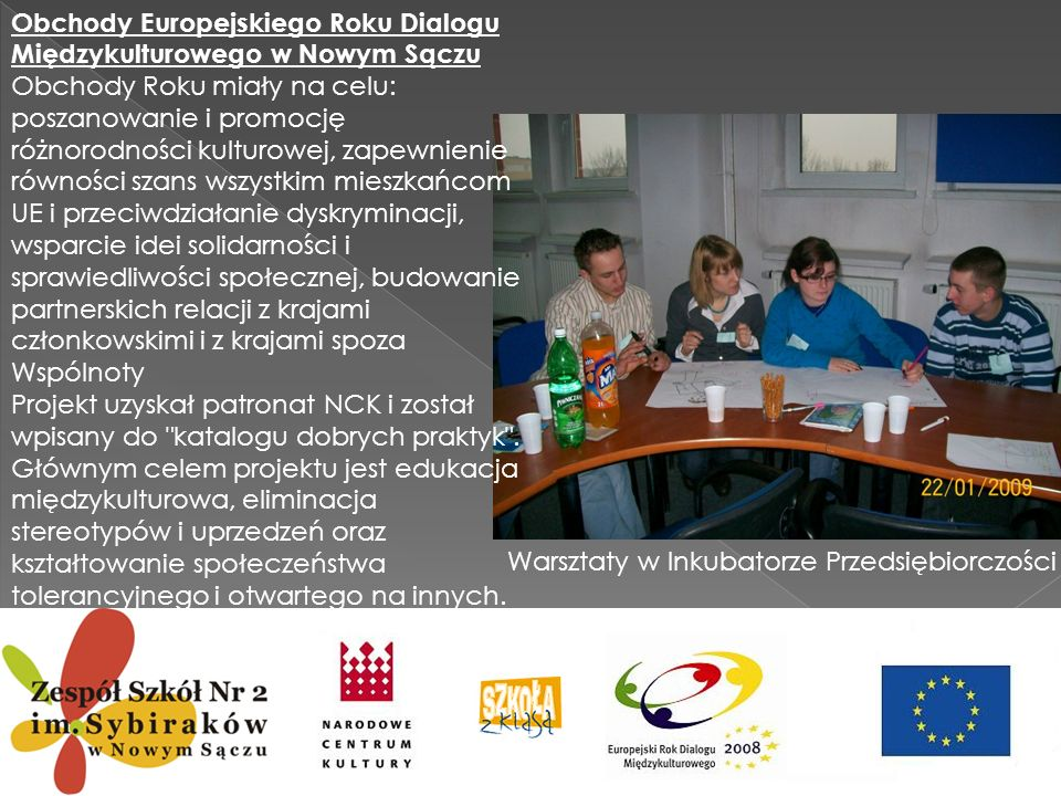 Obchody Europejskiego Roku Dialogu Międzykulturowego w Nowym Sączu
