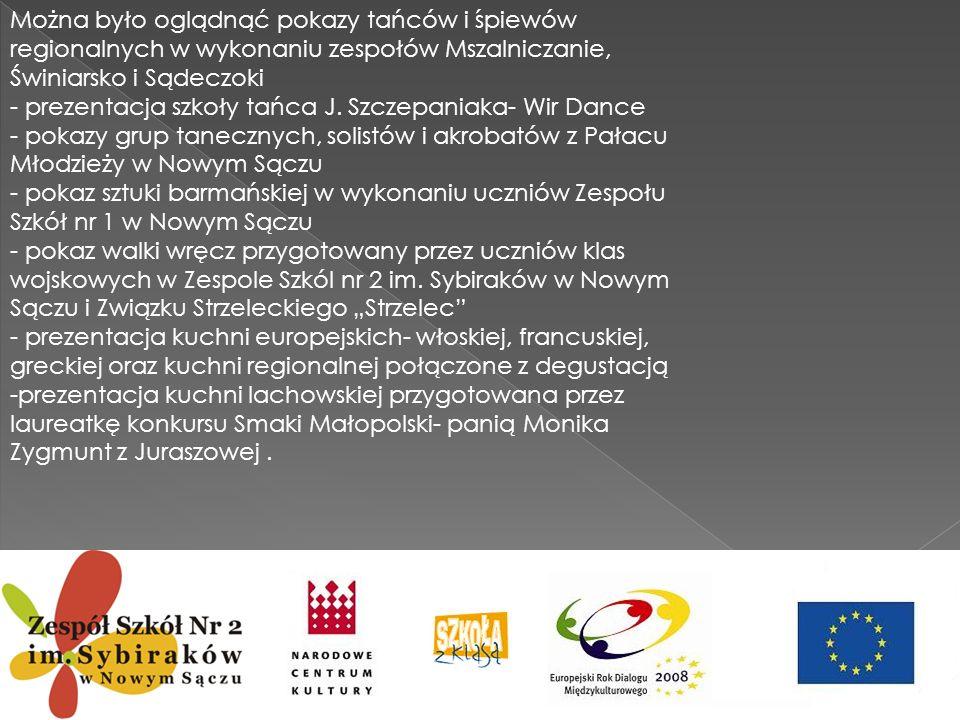 Można było oglądnąć pokazy tańców i śpiewów regionalnych w wykonaniu zespołów Mszalniczanie, Świniarsko i Sądeczoki