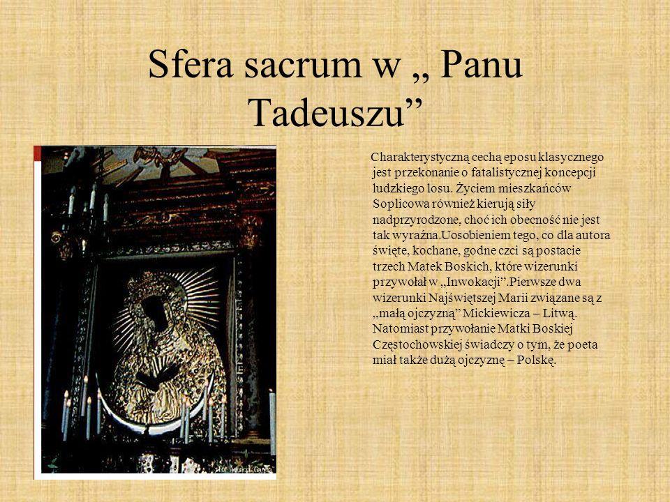 """Sfera sacrum w """" Panu Tadeuszu"""