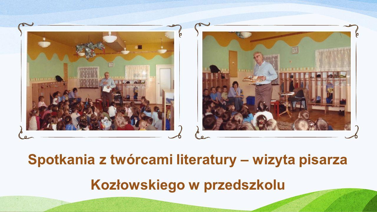 Spotkania z twórcami literatury – wizyta pisarza Kozłowskiego w przedszkolu