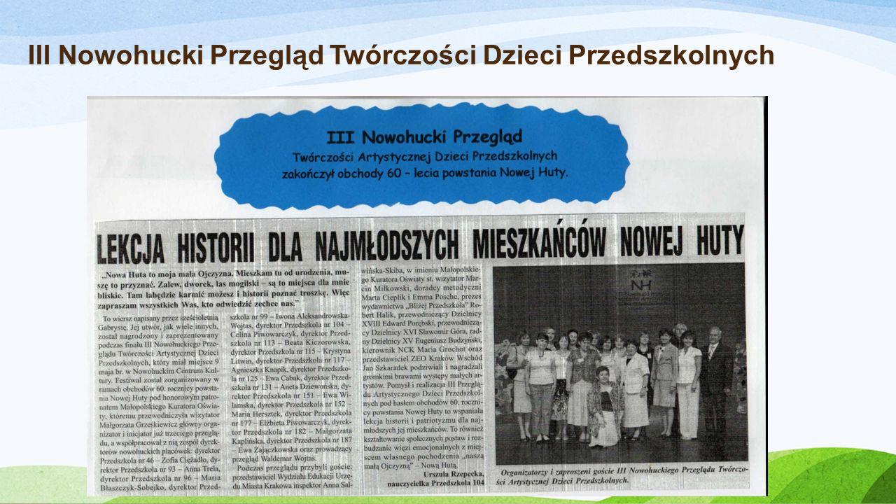 III Nowohucki Przegląd Twórczości Dzieci Przedszkolnych