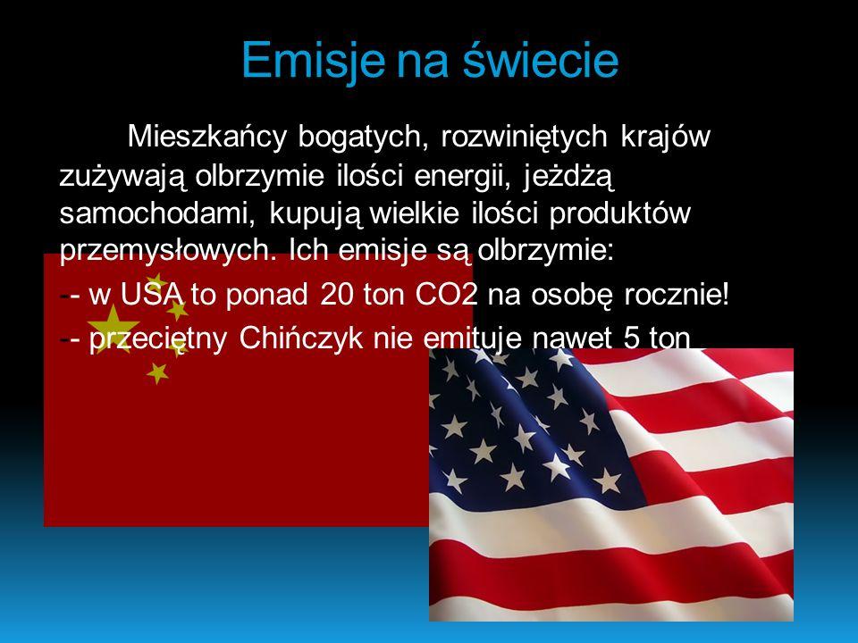 Emisje na świecie