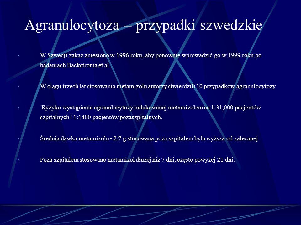 Agranulocytoza – przypadki szwedzkie
