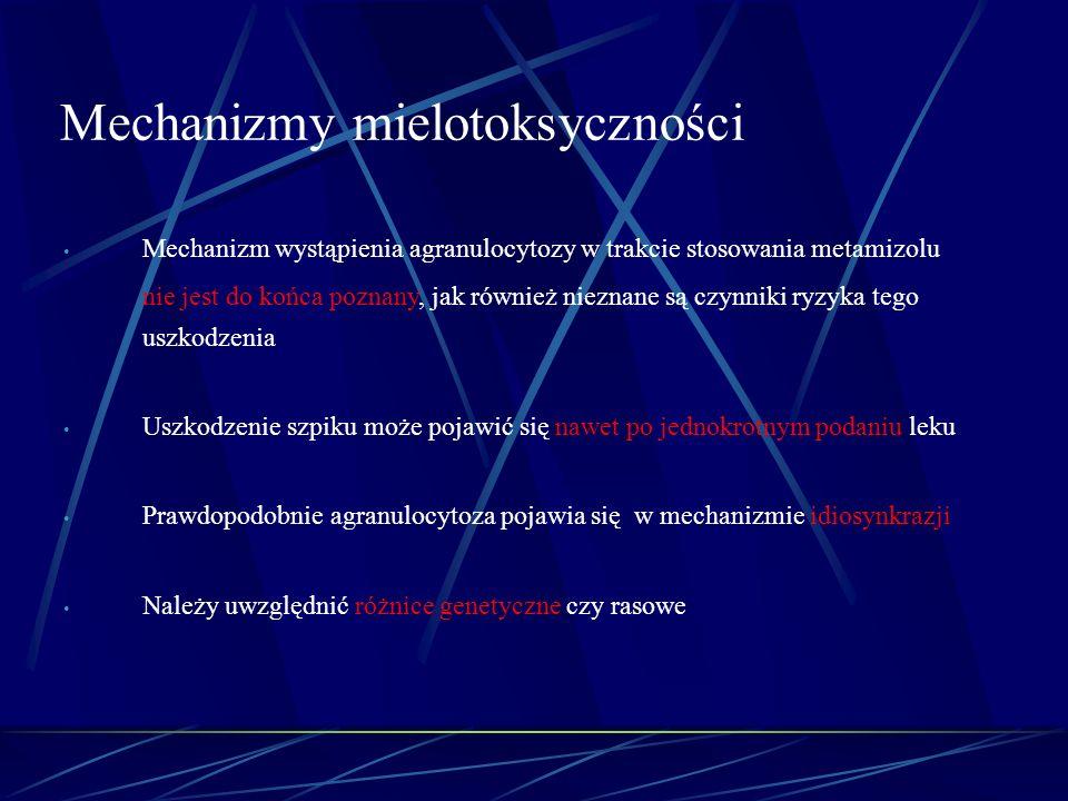Mechanizmy mielotoksyczności