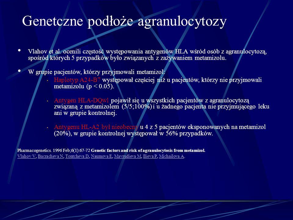 Genetczne podłoże agranulocytozy
