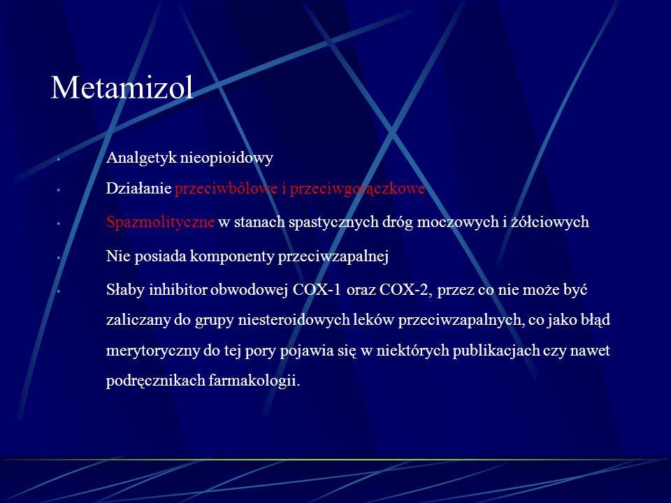 Metamizol Analgetyk nieopioidowy
