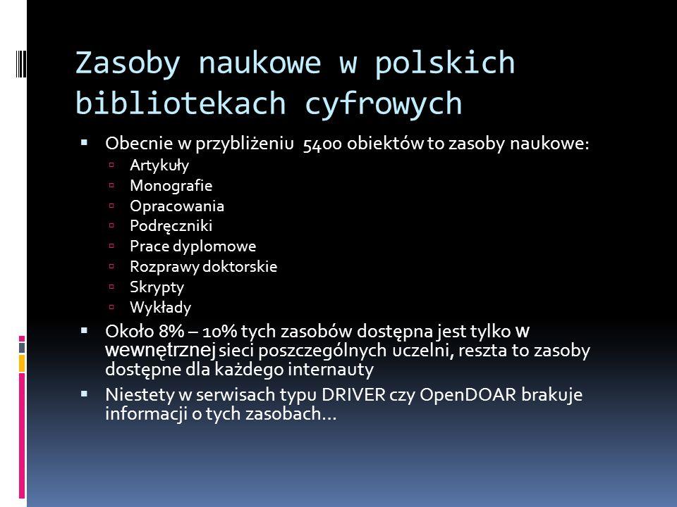 Zasoby naukowe w polskich bibliotekach cyfrowych