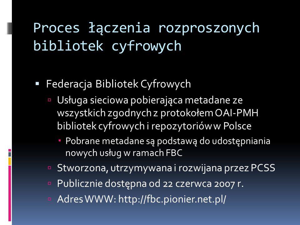 Proces łączenia rozproszonych bibliotek cyfrowych