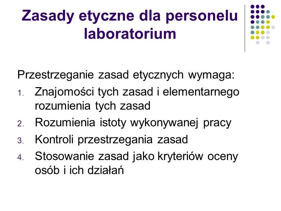 Zasady etyczne dla personelu laboratorium