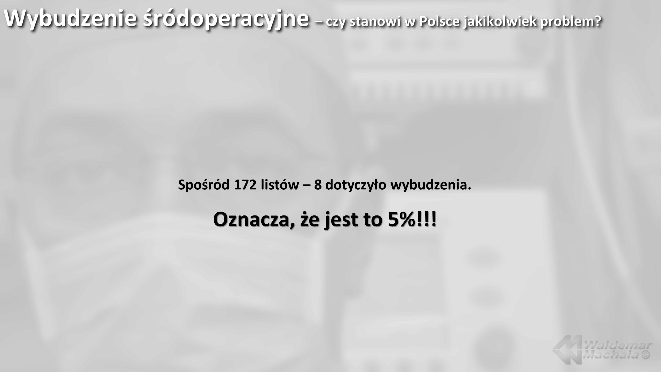 Wybudzenie śródoperacyjne – czy stanowi w Polsce jakikolwiek problem