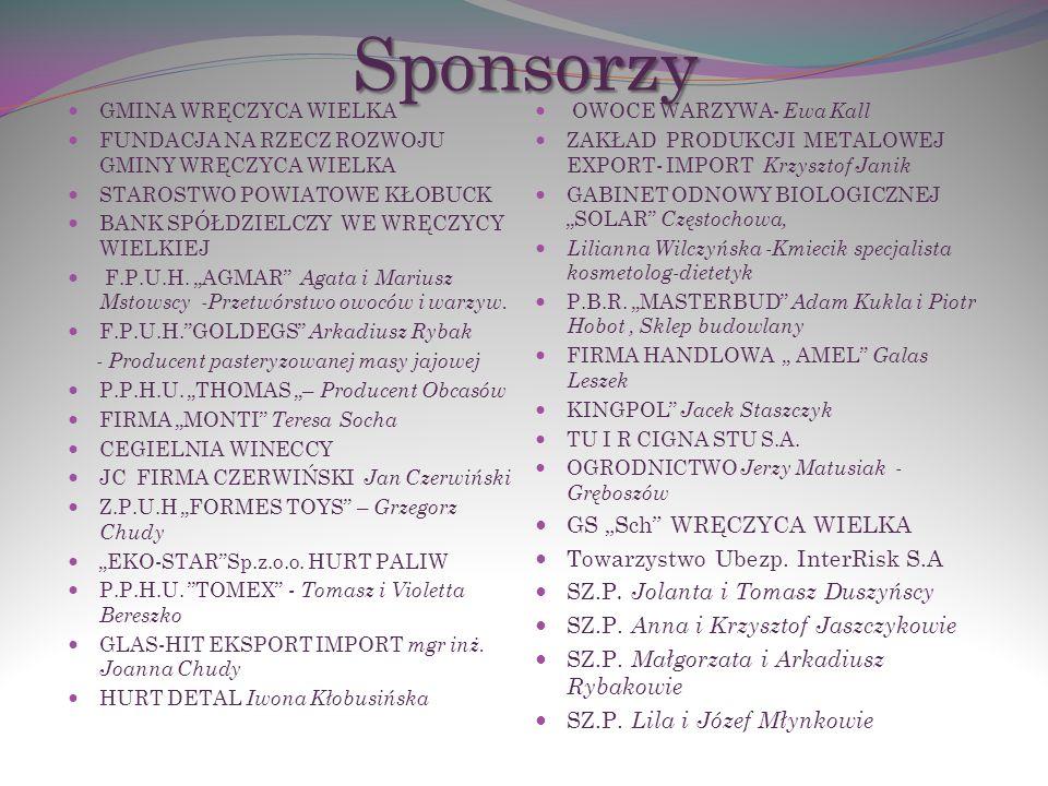 """Sponsorzy GS """"Sch WRĘCZYCA WIELKA Towarzystwo Ubezp. InterRisk S.A"""