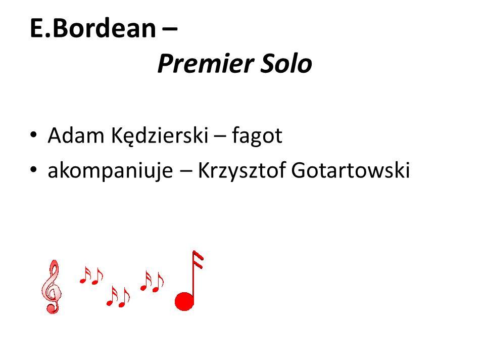 E.Bordean – Premier Solo