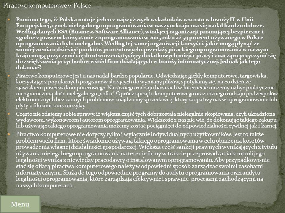 Piractwo komputerowe w Polsce
