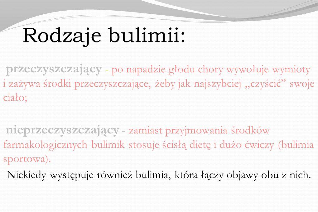 Rodzaje bulimii: