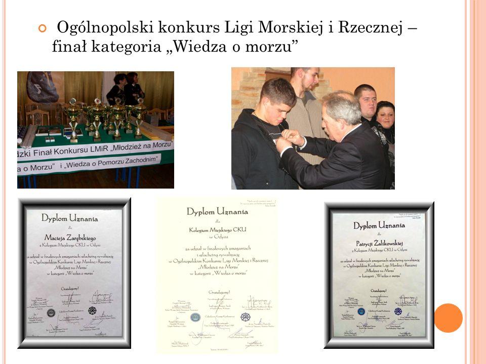 """Ogólnopolski konkurs Ligi Morskiej i Rzecznej – finał kategoria """"Wiedza o morzu"""