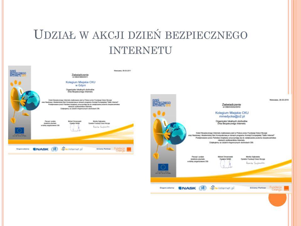 Udział w akcji dzień bezpiecznego internetu