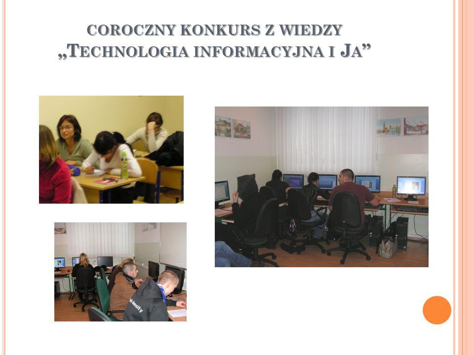 """coroczny konkurs z wiedzy """"Technologia informacyjna i Ja"""