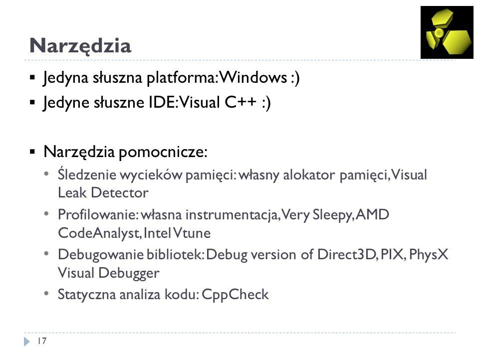 Narzędzia Jedyna słuszna platforma: Windows :)