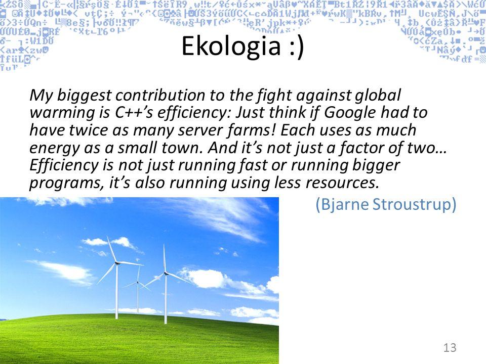 Ekologia :)