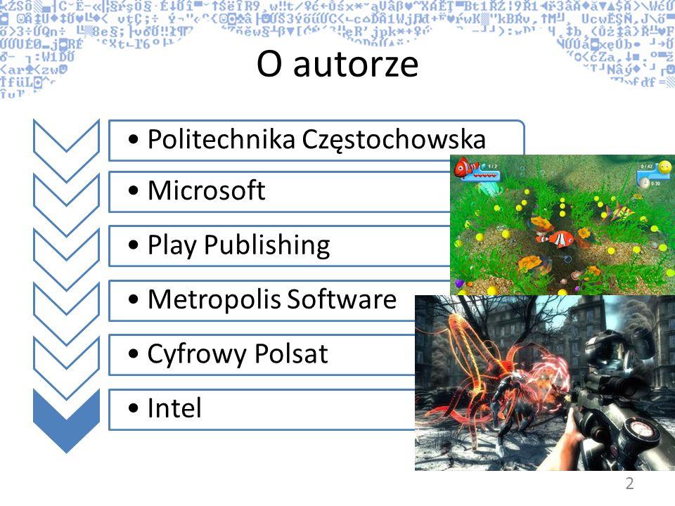 O autorze Politechnika Częstochowska Microsoft Play Publishing