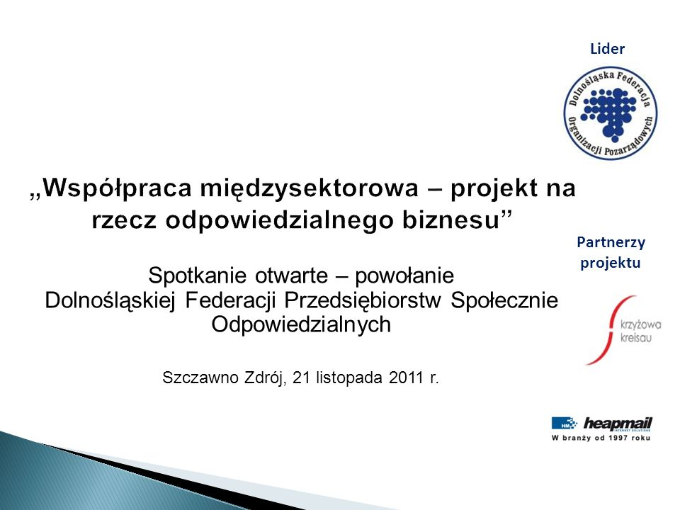 Szczawno Zdrój, 21 listopada 2011 r.