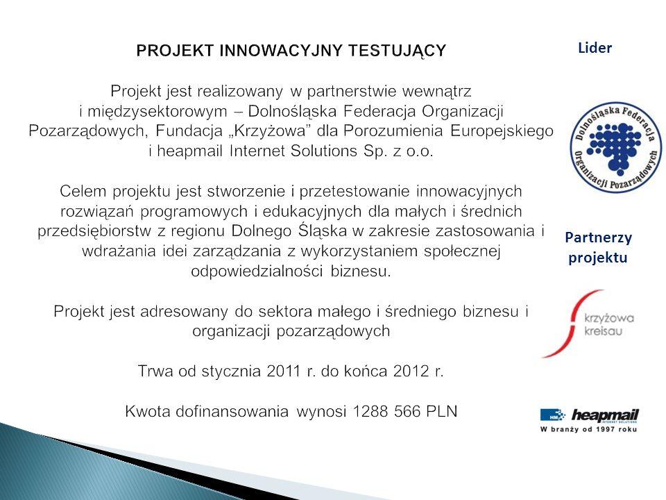 Lider Partnerzy projektu