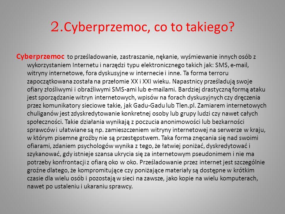 2.Cyberprzemoc, co to takiego