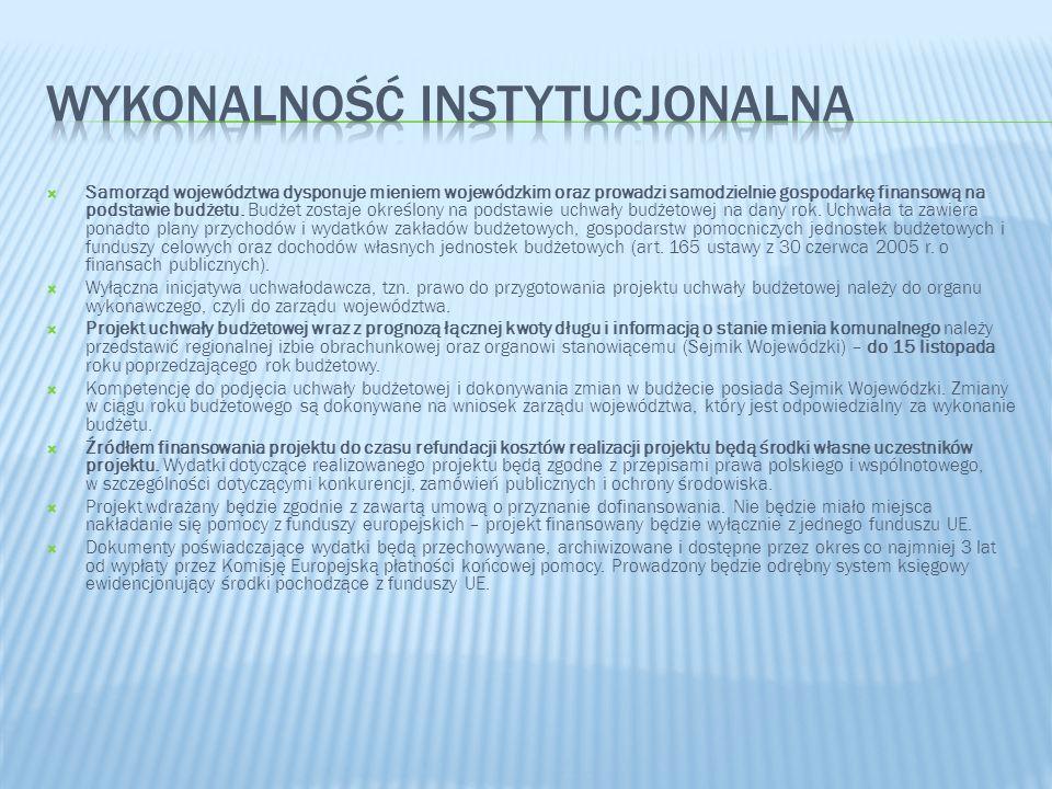 Wykonalność instytucjonalna