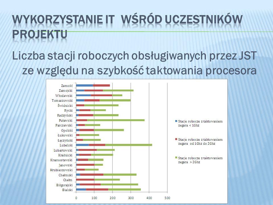 Wykorzystanie IT wśród uczestników projektu