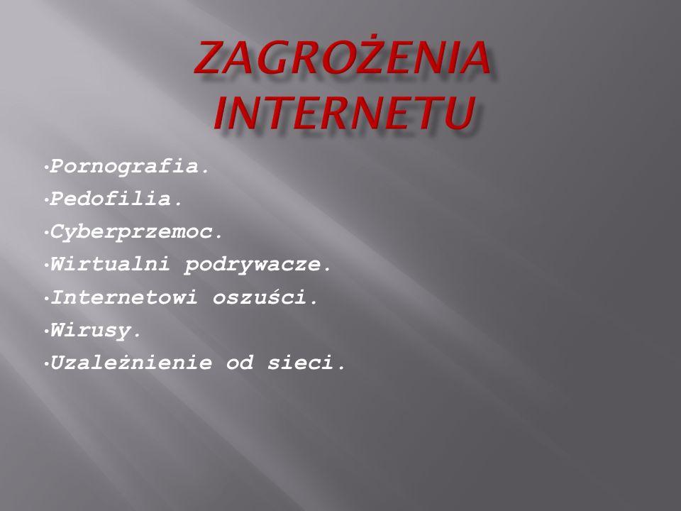 ZAGROŻENIA INTERNETU Pornografia. Pedofilia. Cyberprzemoc.