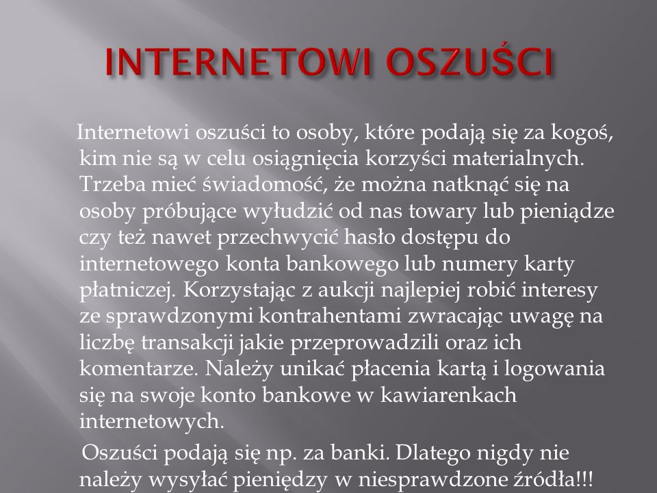 INTERNETOWI OSZUŚCI