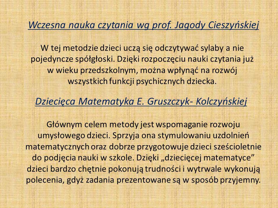 Wczesna nauka czytania wg prof. Jagody Cieszyńskiej