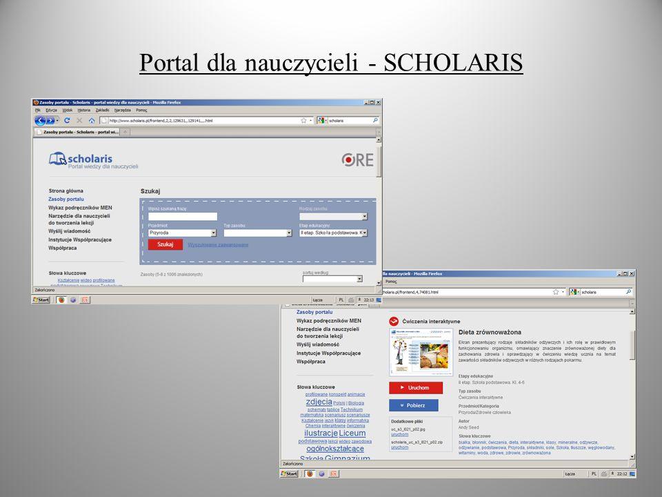 Portal dla nauczycieli - SCHOLARIS