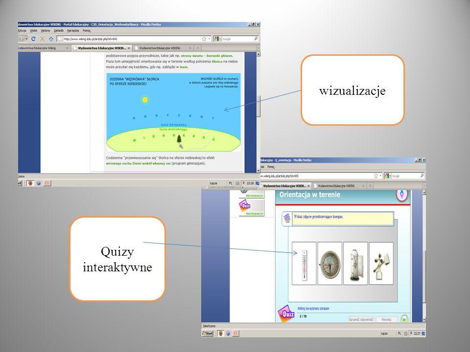 wizualizacje Quizy interaktywne