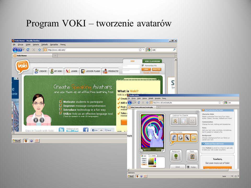 Program VOKI – tworzenie avatarów