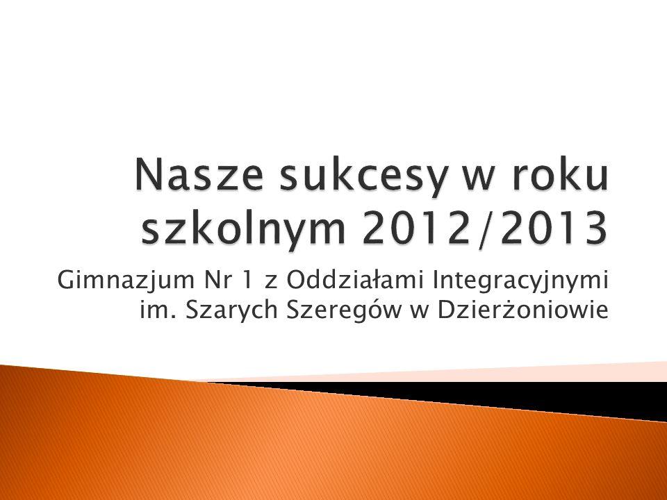 Nasze sukcesy w roku szkolnym 2012/2013