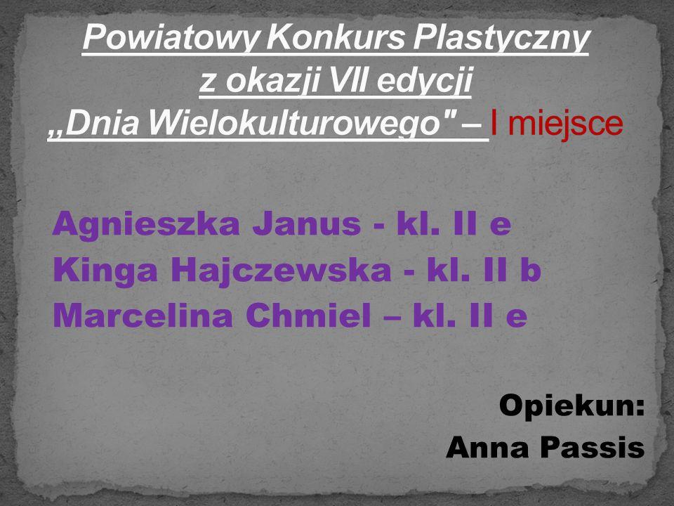"""Powiatowy Konkurs Plastyczny z okazji VII edycji """"Dnia Wielokulturowego – I miejsce"""