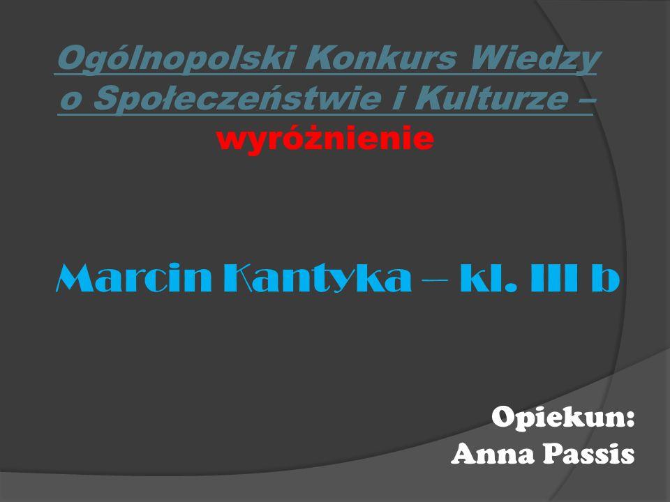 Ogólnopolski Konkurs Wiedzy o Społeczeństwie i Kulturze – wyróżnienie