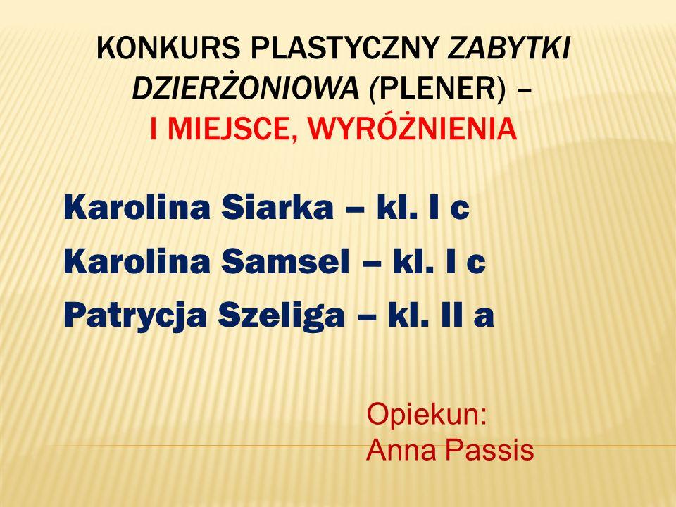 Konkurs Plastyczny Zabytki Dzierżoniowa (plener) – I miejsce, wyróżnienia