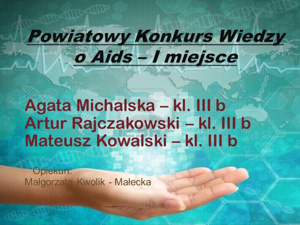Powiatowy Konkurs Wiedzy o Aids – I miejsce