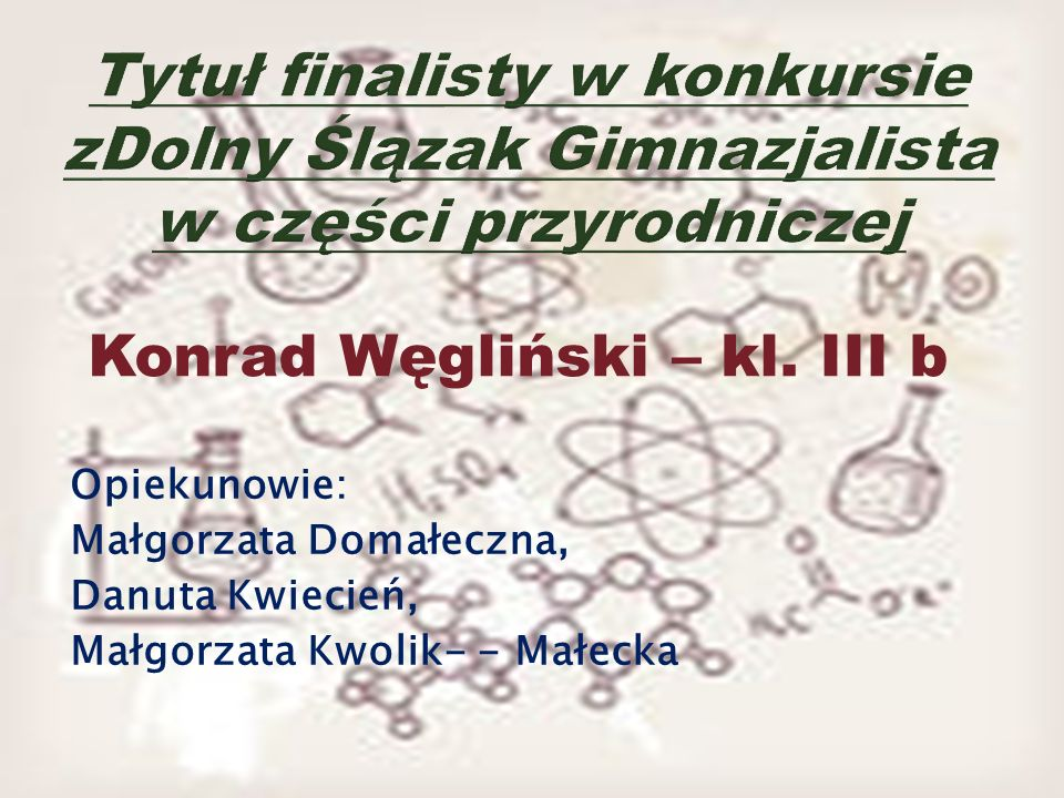 Konrad Węgliński – kl. III b