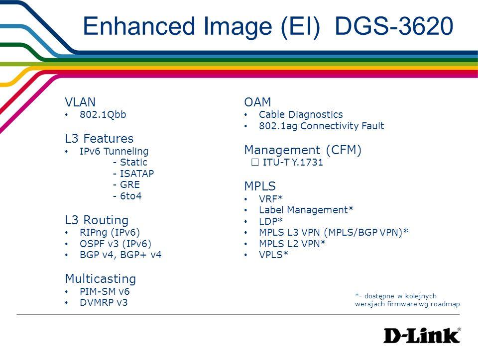 Enhanced Image (EI) DGS-3620