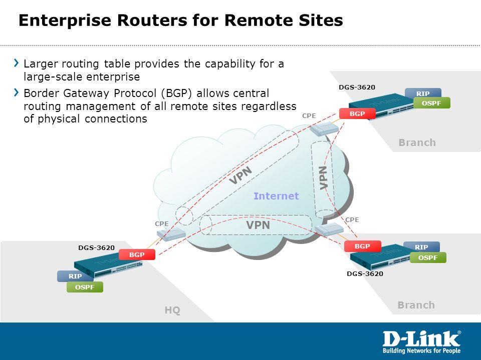 Enterprise Routers for Remote Sites