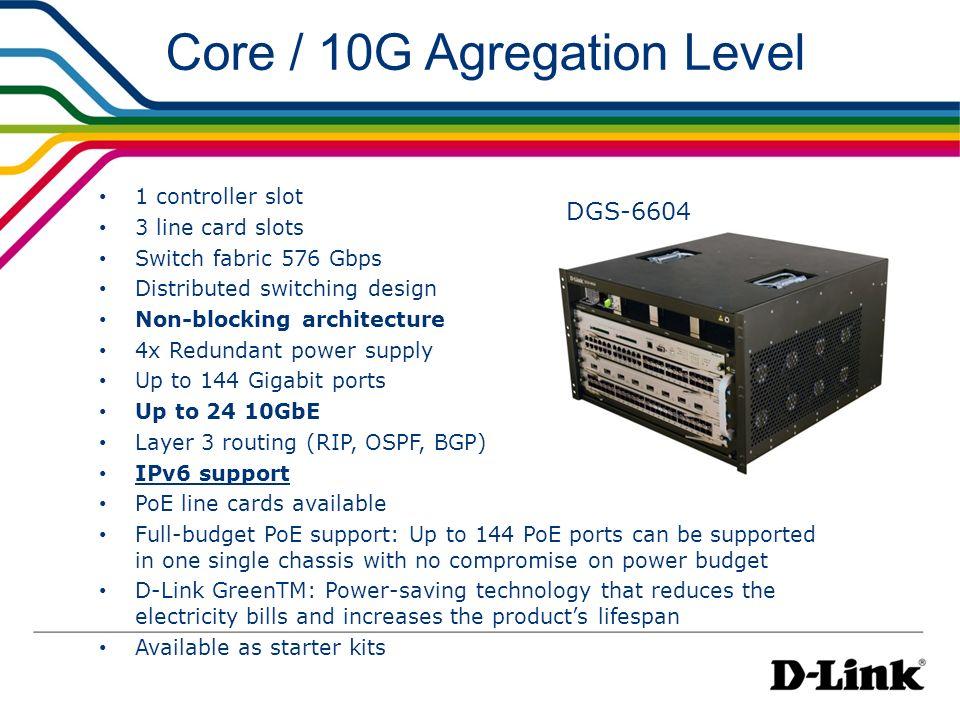 Core / 10G Agregation Level