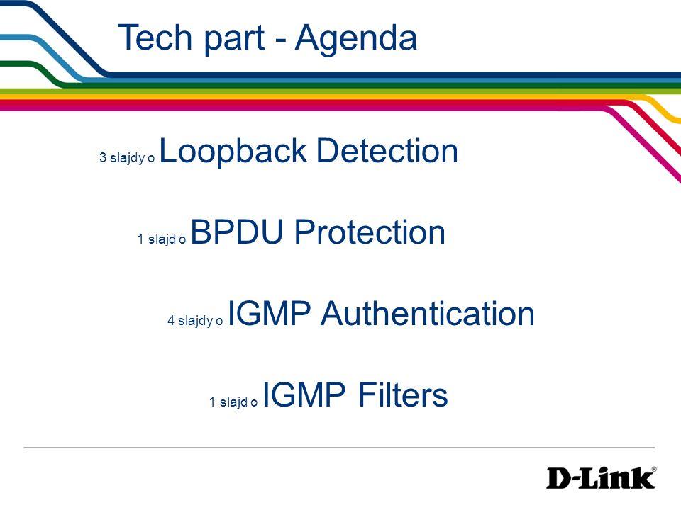 Tech part - Agenda 3 slajdy o Loopback Detection