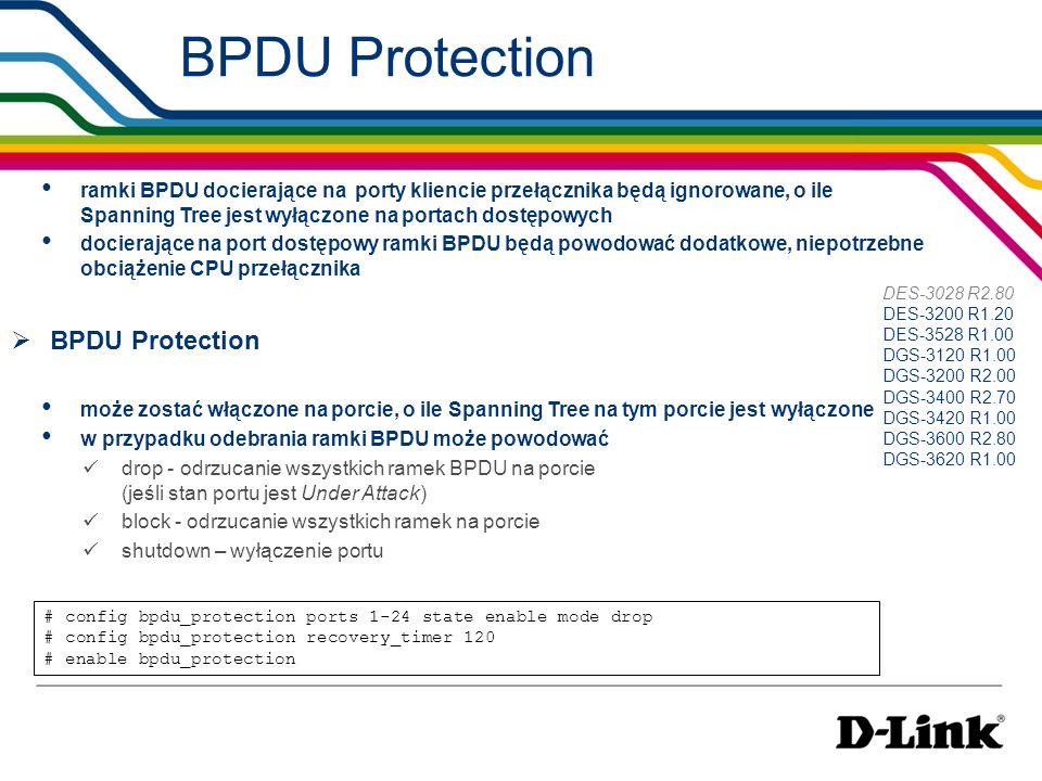 BPDU Protection BPDU Protection