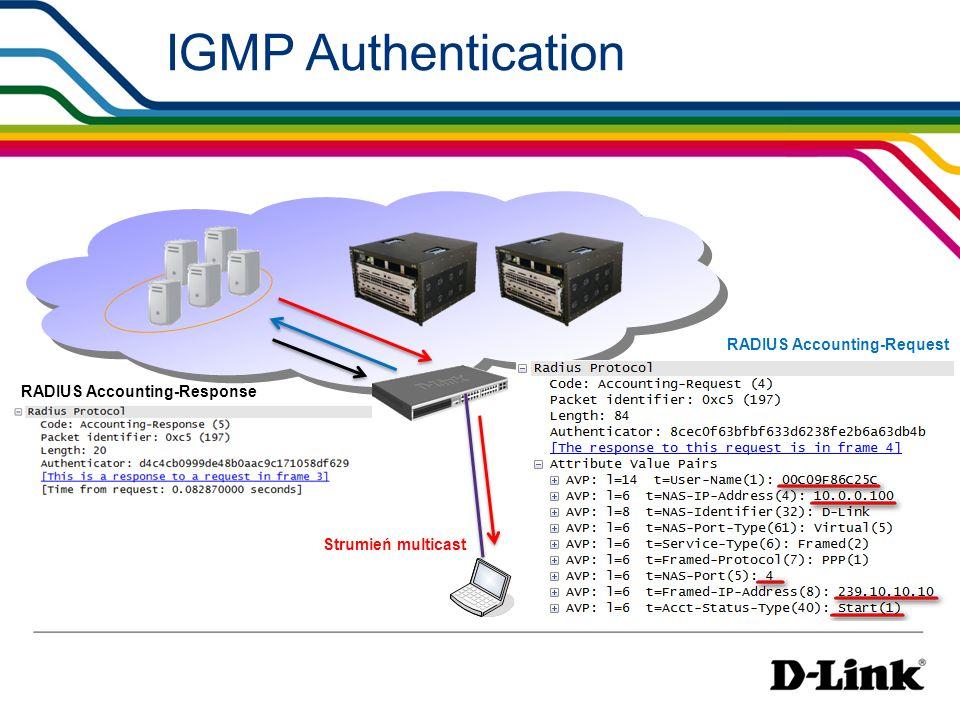IGMP Authentication RADIUS Accounting-Request