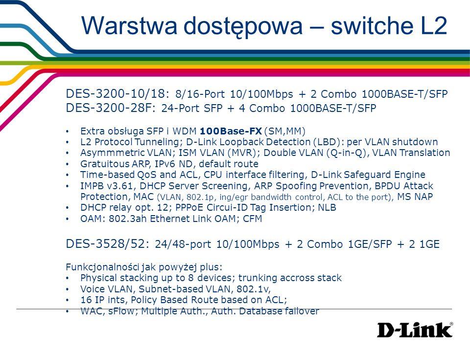 Warstwa dostępowa – switche L2
